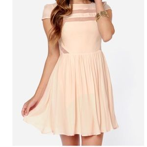 Ladakh moondance peach cutout dress XS